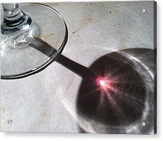 Wine Glass Reflection Acrylic Print by Anna Villarreal Garbis