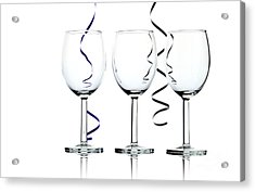 Wine Glasses Acrylic Print by Blink Images