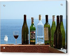 Wine In Mandatory In France Acrylic Print by Chris Ann Wiggins