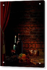 Wine Lifestyle Acrylic Print by Lourry Legarde