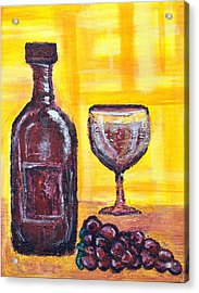 Wine Still Life 2 Acrylic Print by Janice Gelona