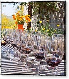 Wine Tasting At Kingston Vineyard Acrylic Print
