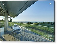 Wine Tasting Balcony Acrylic Print by Rob Tilley