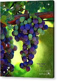 Wine To Be - Art Acrylic Print