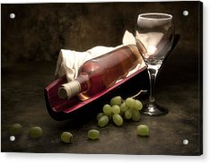 Wine With Grapes And Glass Still Life Acrylic Print