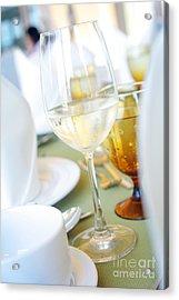 Wineglass Acrylic Print by Atiketta Sangasaeng