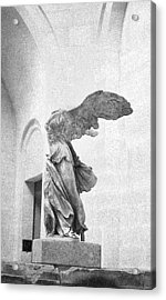 Acrylic Print featuring the photograph Winged Victory Of Samothrace by Louis Nugent