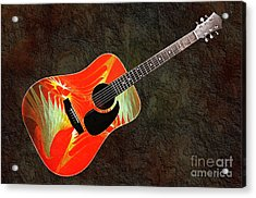 Wings Of Paradise Abstract Guitar Acrylic Print by Andee Design