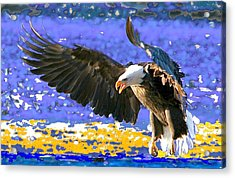 Acrylic Print featuring the digital art Wings On High by Carrie OBrien Sibley