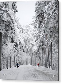 Winter Activities Acrylic Print