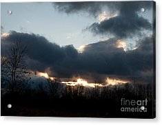 Winter Afternoon Clouds Acrylic Print by Gary Chapple