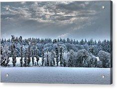Winter At France Acrylic Print by Dominique Guillaume est un Auteur-Photographe