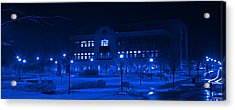 Winter Blues - Love In The Library Acrylic Print by John Stephens
