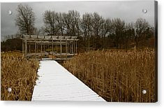 Winter Boardwalk Acrylic Print