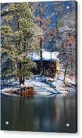 Winter Cabin - Only Winter Shot Ever Captured - Artist Cris Hayes Acrylic Print by Cris Hayes