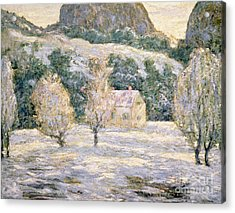Winter Acrylic Print by Ernest Lawson