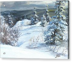 Winter Escape Acrylic Print by Patricia Seitz