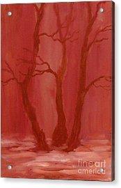Winter Evening In The Park Acrylic Print by Anna Folkartanna Maciejewska-Dyba
