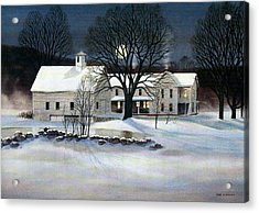Acrylic Print featuring the painting Winter Glow by Karol Wyckoff