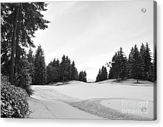 Winter Golf Course  2 Acrylic Print by Tanya  Searcy