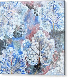 Acrylic Print featuring the painting Winter Grapes I by Karen Fleschler