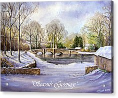 Winter In Ashford Xmas Card Acrylic Print by Andrew Read