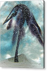 Winter In Blown Glass Acrylic Print by Judy Via-Wolff