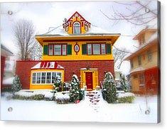 Winter In Ditmas Park Acrylic Print by Mark Gilman
