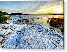 Winter In Finland Acrylic Print by Roman Rodionov