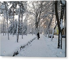 Acrylic Print featuring the photograph Winter In Mako by Anna Ruzsan
