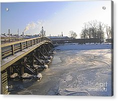 Winter In Peterburg Acrylic Print by Yury Bashkin