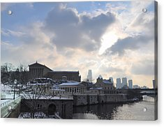 Winter In Philly Acrylic Print by Bill Cannon