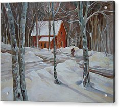 Winter In The Woods Acrylic Print