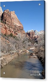 Winter In Zion 2 Acrylic Print by Bob and Nancy Kendrick