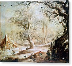 'winter Landscape', 17th Century, Painting Acrylic Print by Photos.com
