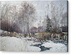 Winter Landscape Acrylic Print by Andrey Soldatenko