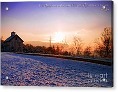 Winter Landscape Connecticut Usa Acrylic Print by Sabine Jacobs
