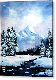 Winter Mountains Acrylic Print by Phyllis Kaltenbach