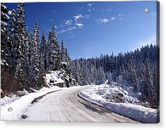 Winter On Chinnook Pass Acrylic Print
