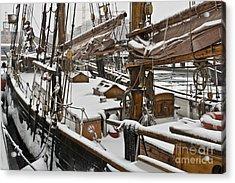 Winter On Deck Acrylic Print by Heiko Koehrer-Wagner