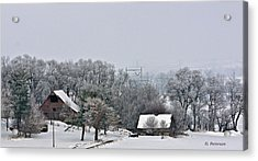 Acrylic Print featuring the photograph Winter On The Farm by Edward Peterson