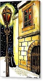 Winter Romance Acrylic Print by Mona Edulesco
