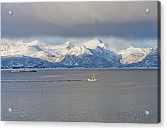 Winter Sea Acrylic Print by Frank Olsen