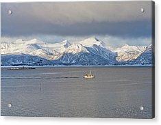 Winter Sea Acrylic Print by Frank Olsen