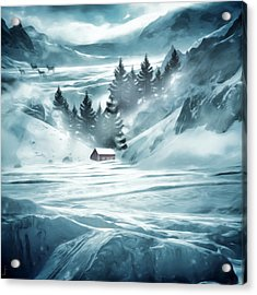 Winter Seclusion Acrylic Print by Lourry Legarde