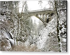 Winter, Shepperds Dell, Columbia River Acrylic Print by Craig Tuttle