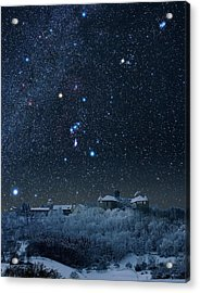 Winter Sky With Orion Constellation Acrylic Print by Eckhard Slawik