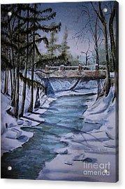 Winter Solitude Acrylic Print by Marylyn Wiedmaier