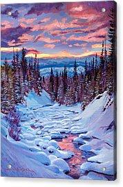 Winter Solstice Acrylic Print by David Lloyd Glover
