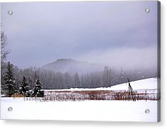 Acrylic Print featuring the photograph Winter Strata by Mary McAvoy